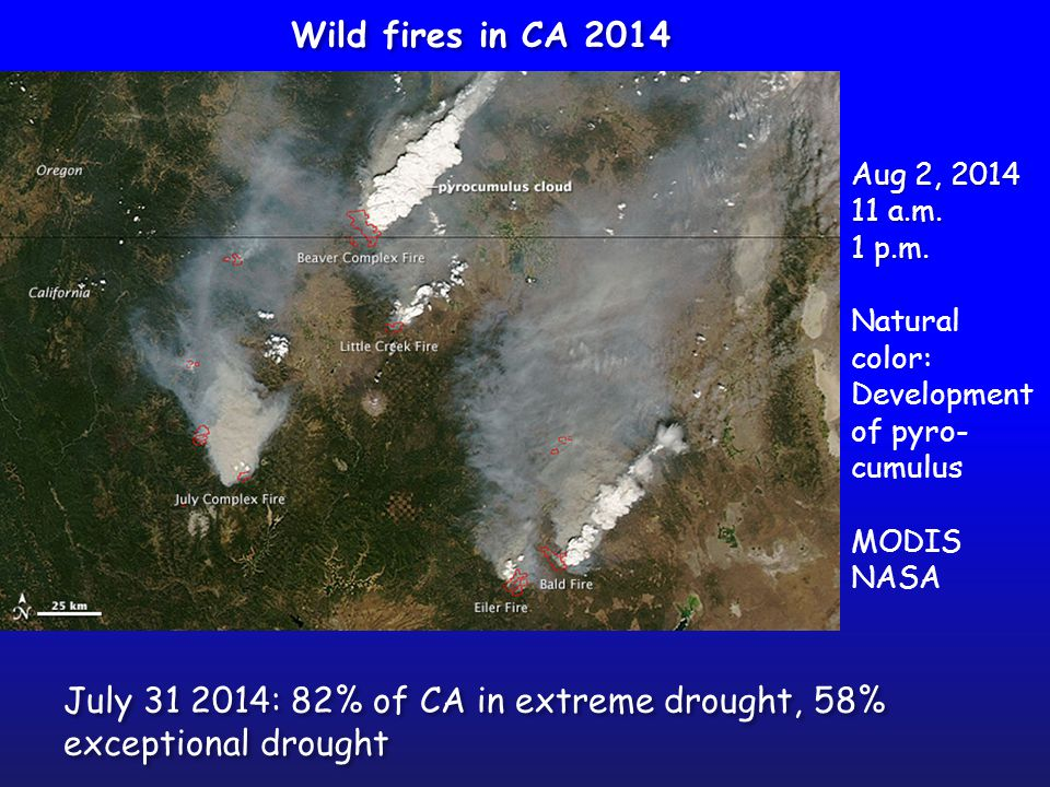 July 31 2014: 82% of CA in extreme drought, 58% exceptional drought Aug 2, 2014 11 a.m.