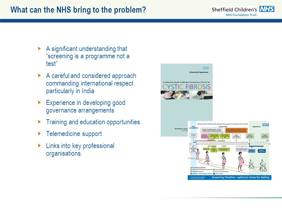 What can the NHS bring to the problem.