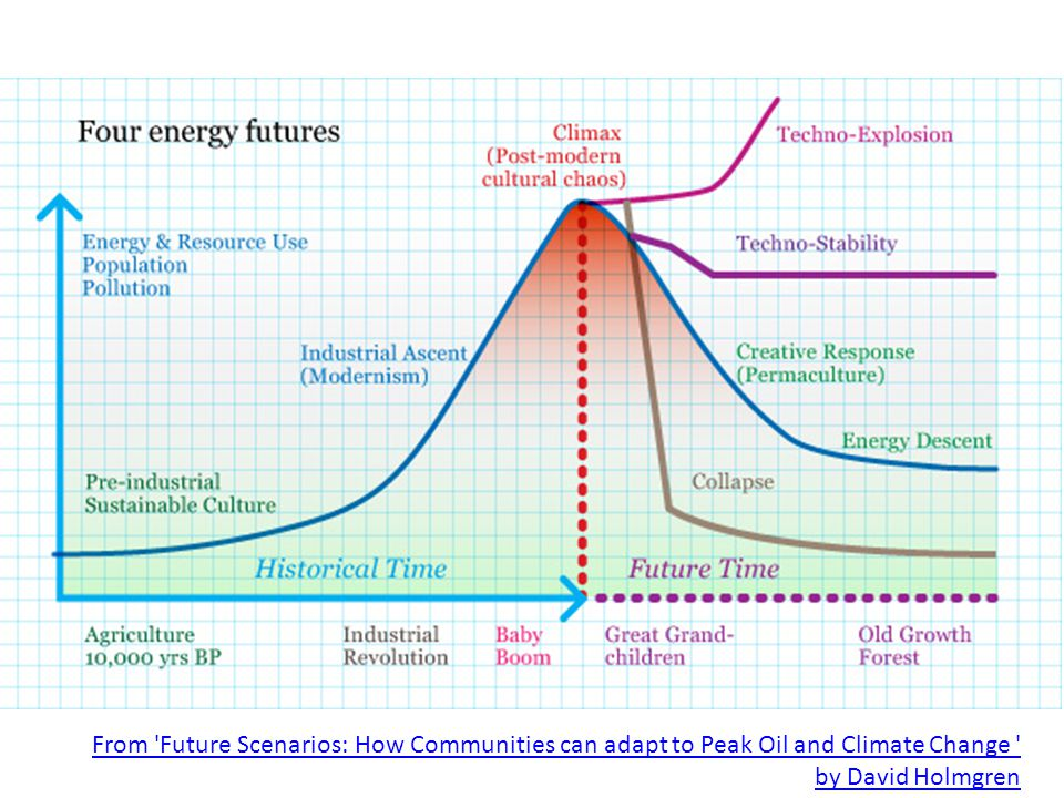 From Future Scenarios: How Communities can adapt to Peak Oil and Climate Change by David Holmgren