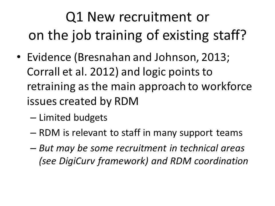 Q7 Should/can the training be designed/ delivered collaboratively.
