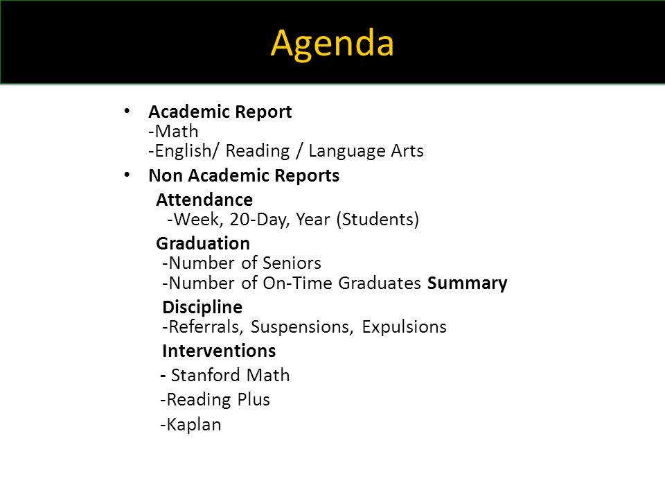 Summary Increase percentage of proficiency (85%) on Algebra I, English I, English II, and Biology SPI's based on common assessments.