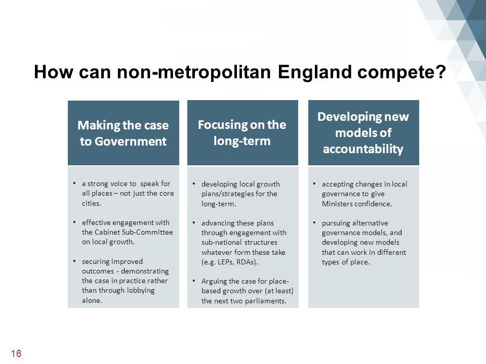 16 How can non-metropolitan England compete.