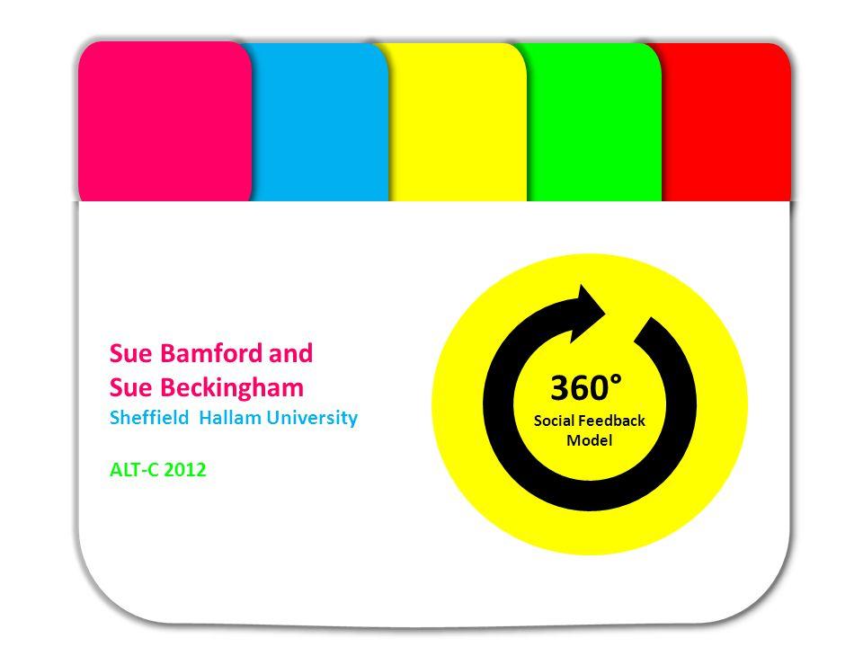 The Module Sue Bamford and Sue Beckingham Sheffield Hallam University ALT-C 2012 360° Social Feedback Model