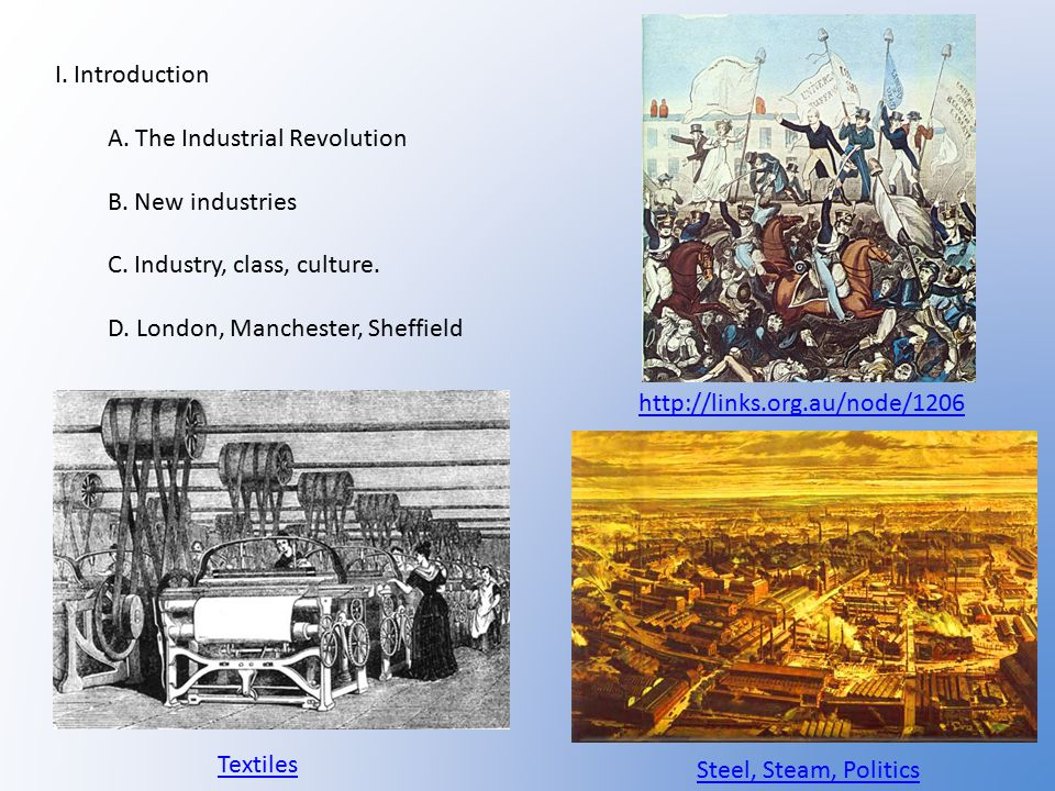 I.Introduction A. The Industrial Revolution B. New industries C.