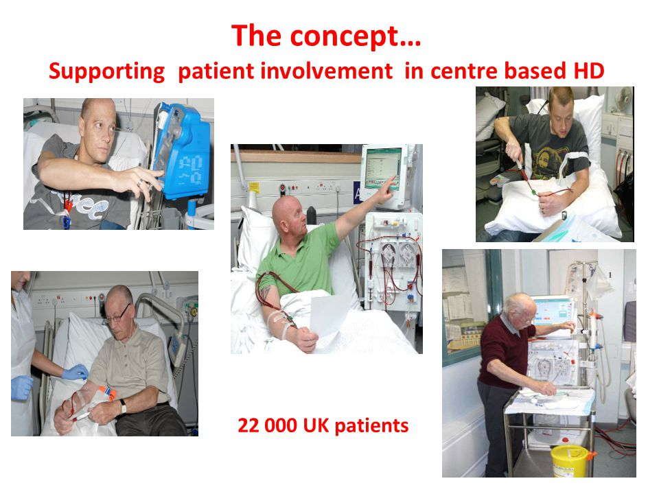 22 000 UK patients The concept… Supporting patient involvement in centre based HD