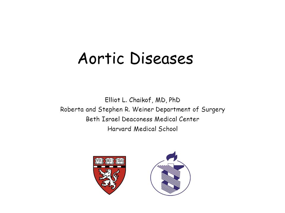 Aortic Diseases Elliot L. Chaikof, MD, PhD Roberta and Stephen R.