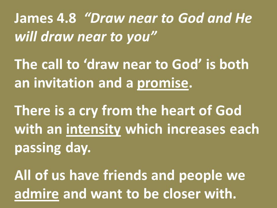 John 1.8 What if Moses had thought, 'I'll check this out later when things are under control and it won't interrupt my day?' If we don't respond He does not push His way in.