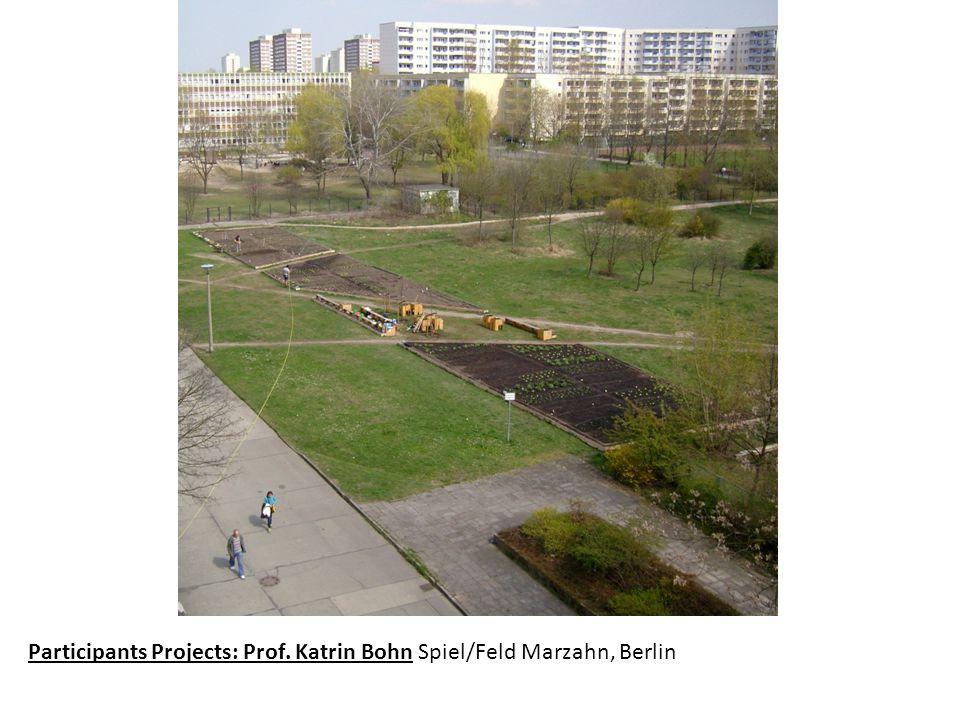 Participants Projects: Prof. Katrin Bohn Spiel/Feld Marzahn, Berlin