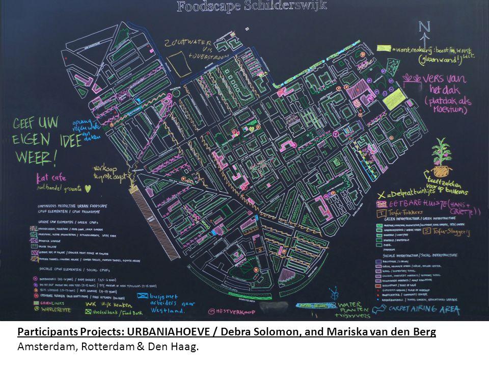 Participants Projects: URBANIAHOEVE / Debra Solomon, and Mariska van den Berg Amsterdam, Rotterdam & Den Haag.