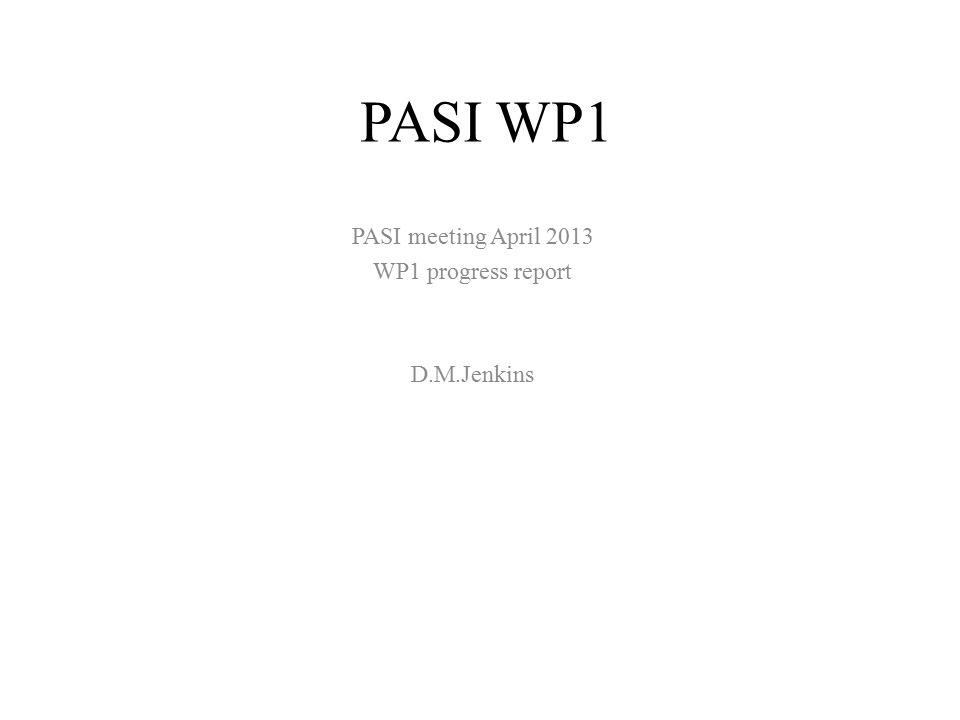 PASI WP1 Review of existing and proposed targets for high power neutron production – Review of spallation targets