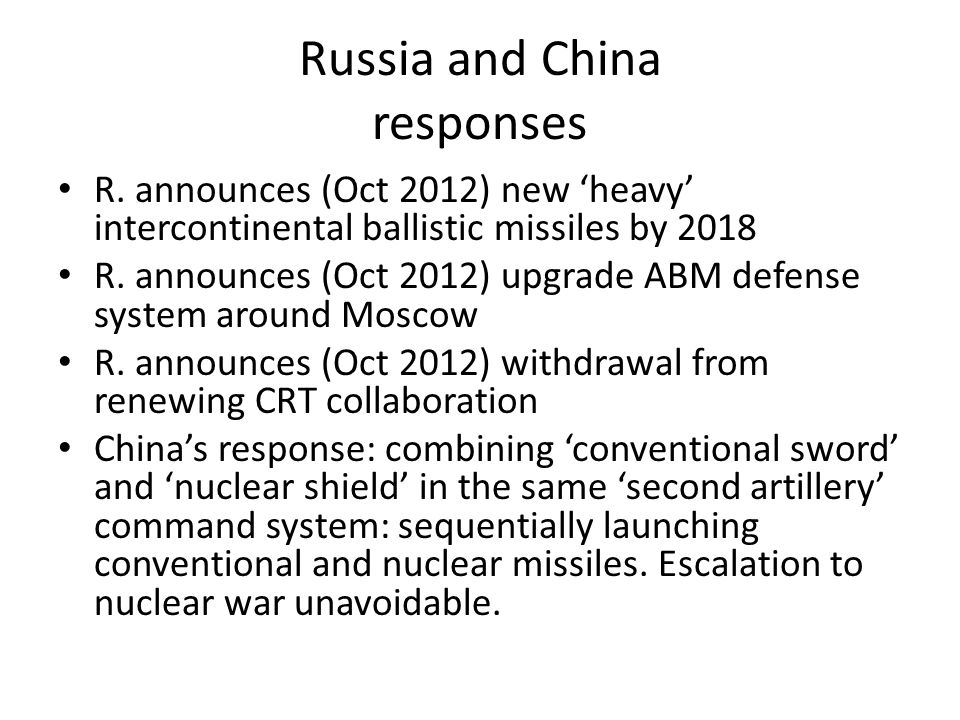 Russia and China responses R.