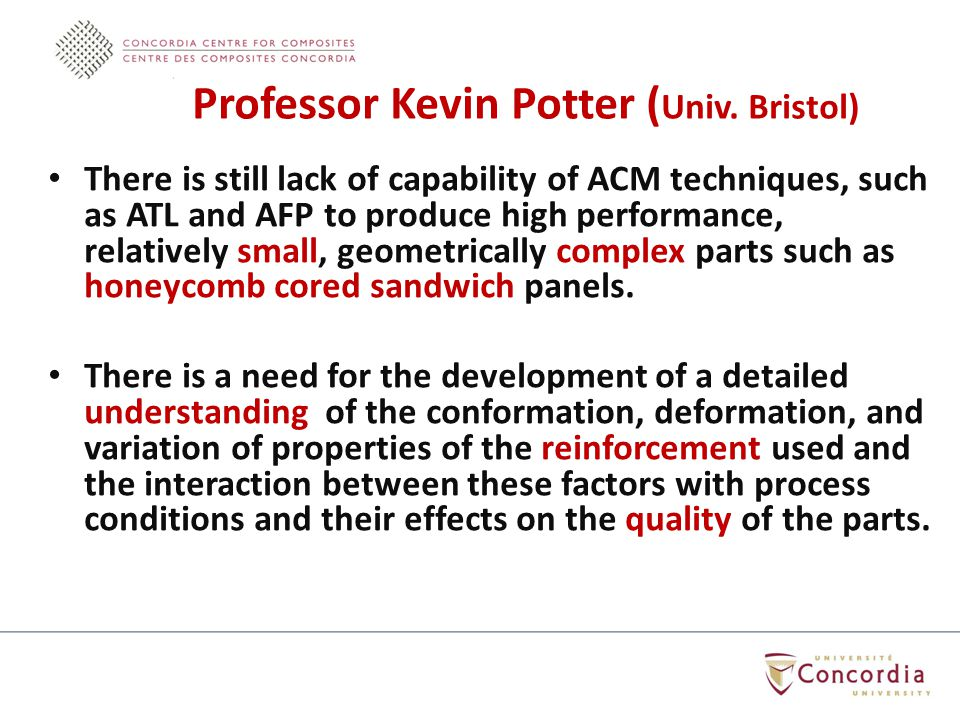 There is still lack of capability of ACM techniques, such as ATL and AFP to produce high performance, relatively small, geometrically complex parts su