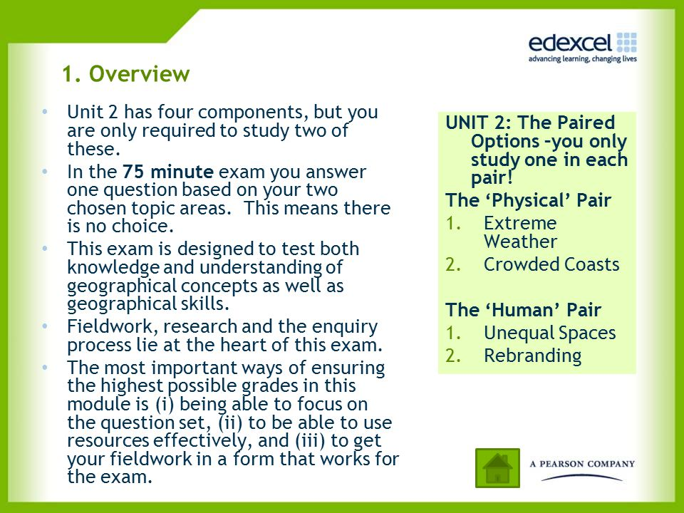 UNIT 2 – Assessment overview and structure Normally the first part of each question starts with a data stimulus element.