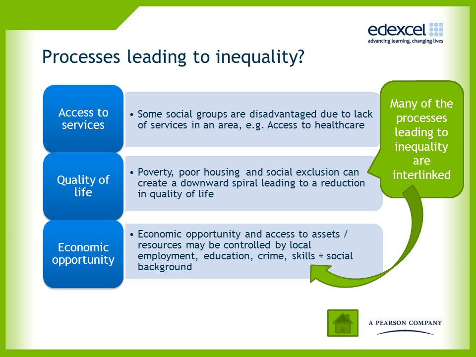 Witness accounts and blogs – another research source The reasons for / impacts of inequality are often best examined through online reports and blogs (see example below).