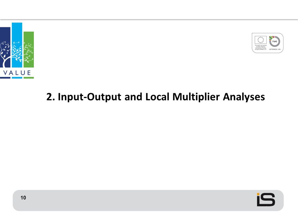 10 2. Input-Output and Local Multiplier Analyses