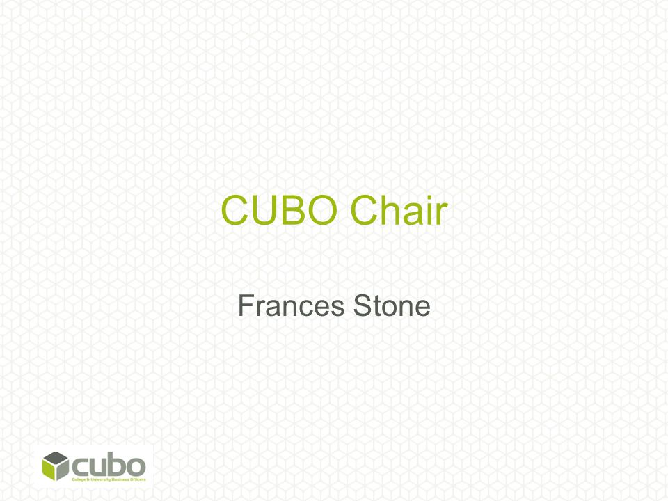 CUBO Chair Frances Stone