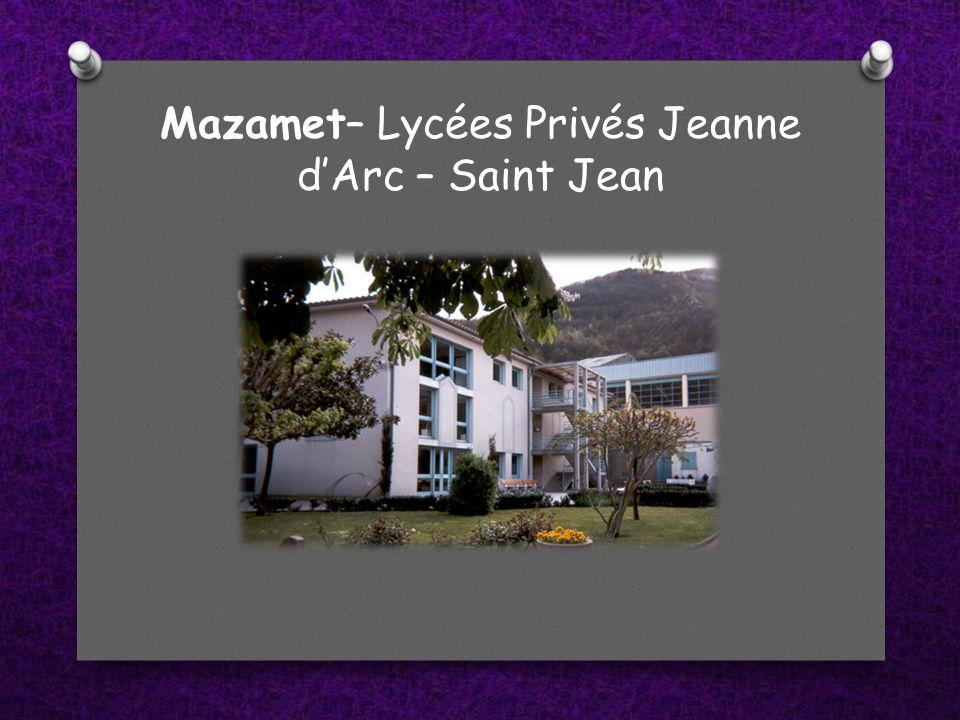 Mazamet– Lycées Privés Jeanne d'Arc – Saint Jean
