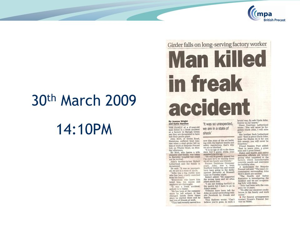 30 th March 2009 14:10PM
