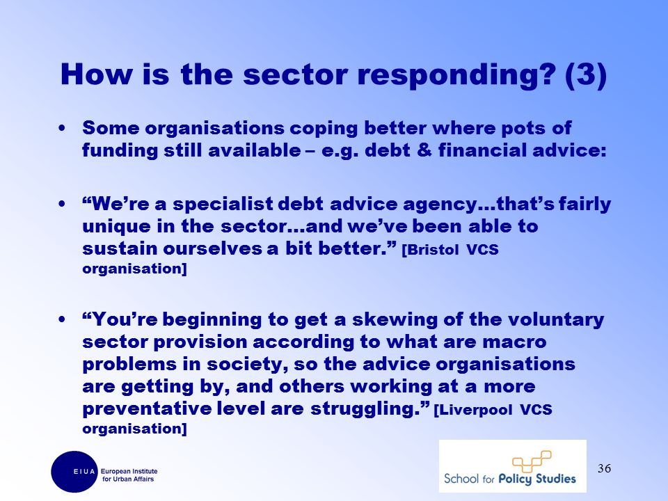 How is the sector responding.