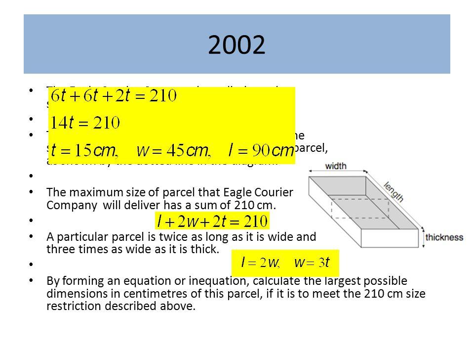 2003 At his flat, Josh makes two rectangular gardens.