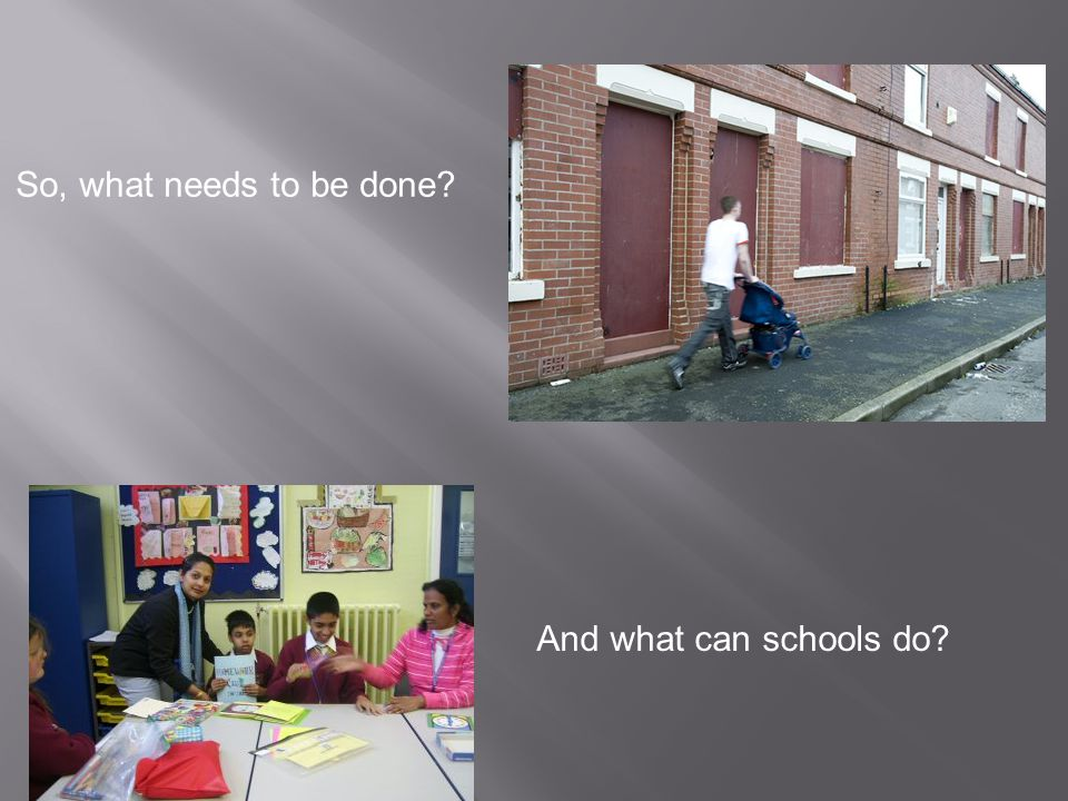So, what needs to be done? And what can schools do?