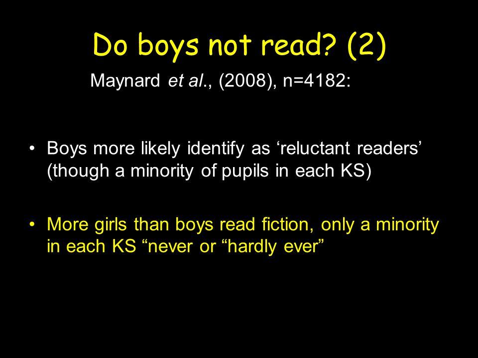 Do boys not read.