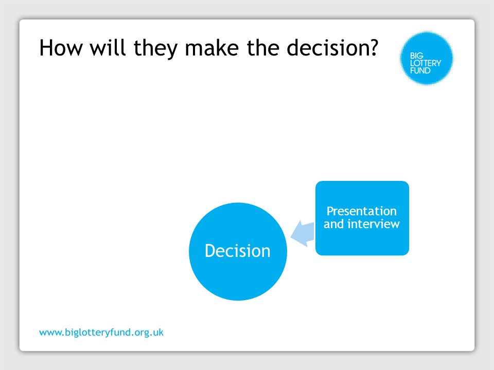 How will they make the decision? Decision Application and assessment report Social Research Unit readiness assessment Warwick University assessment of