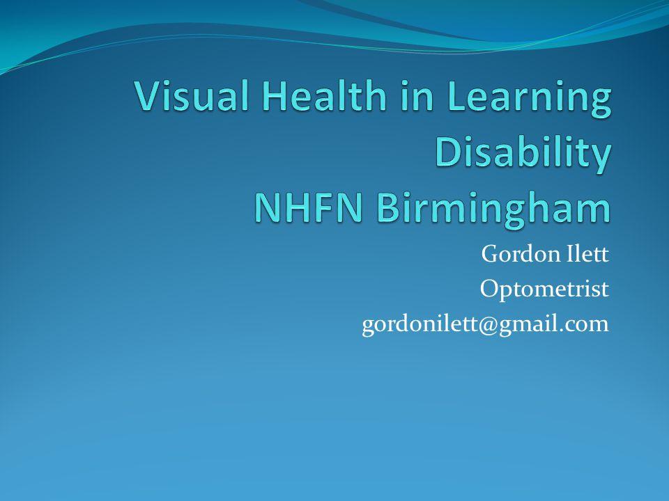 Gordon Ilett Optometrist gordonilett@gmail.com