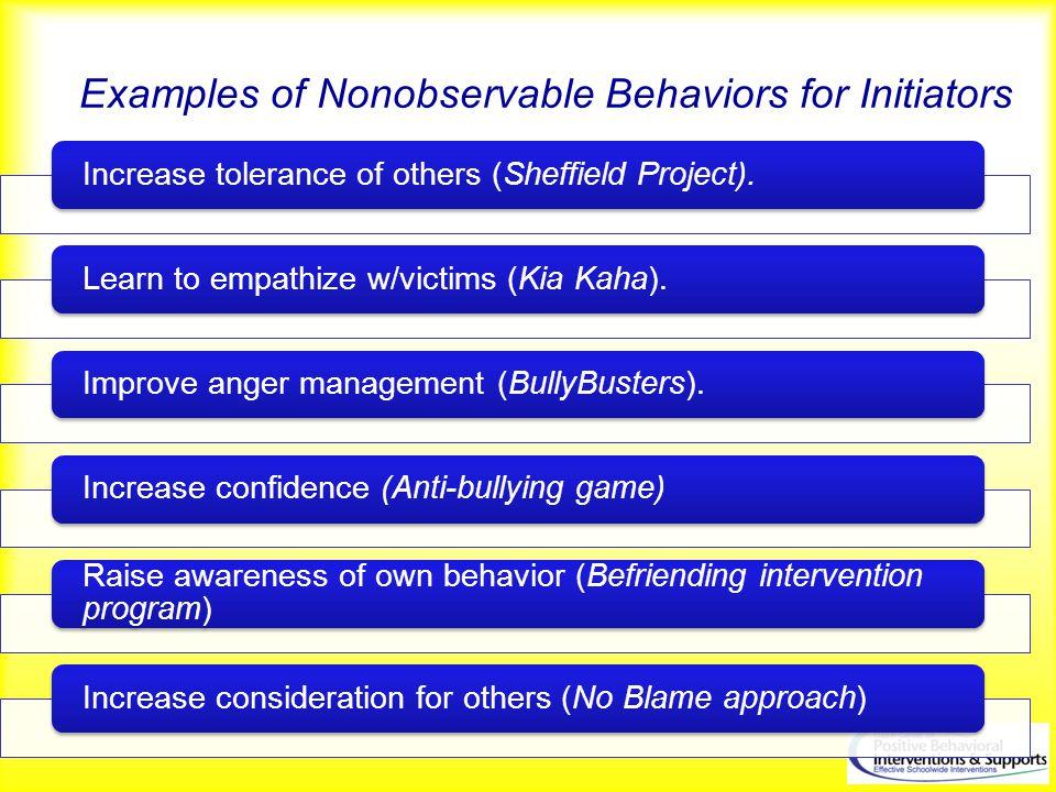 Examples of Nonobservable Behaviors for Initiators