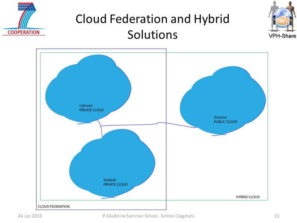 P-Medicine Summer School, Schloss Dagstuhl,1124 Jun 2013 Cloud Federation and Hybrid Solutions