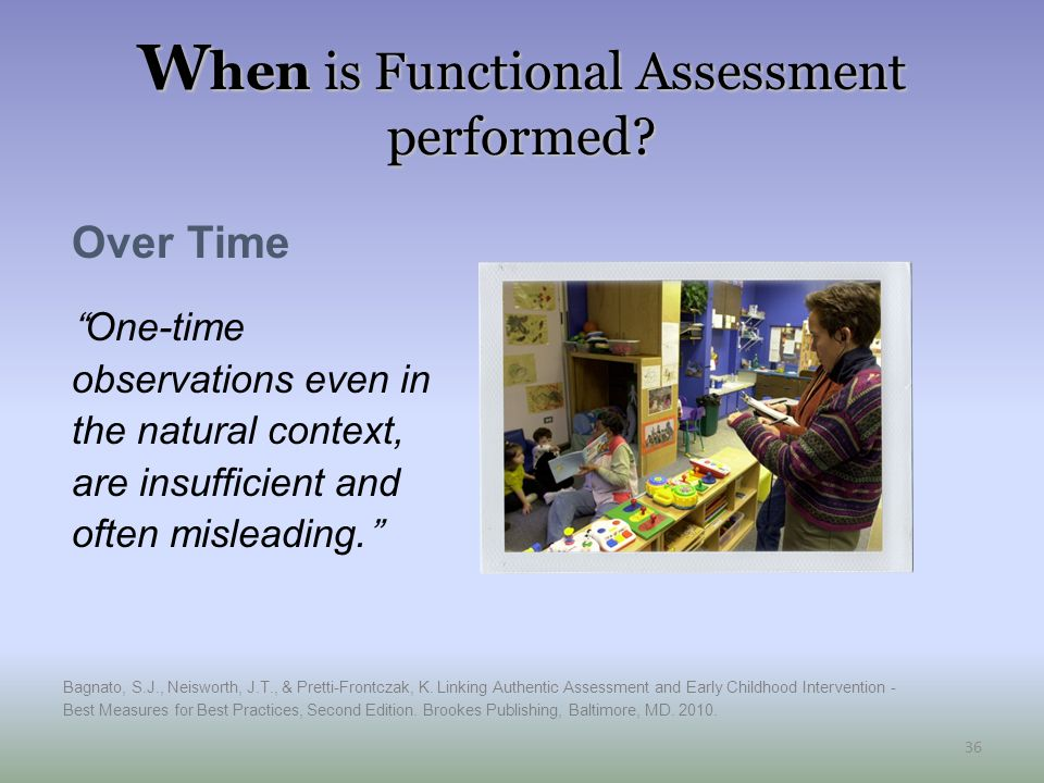 W hen is Functional Assessment performed.