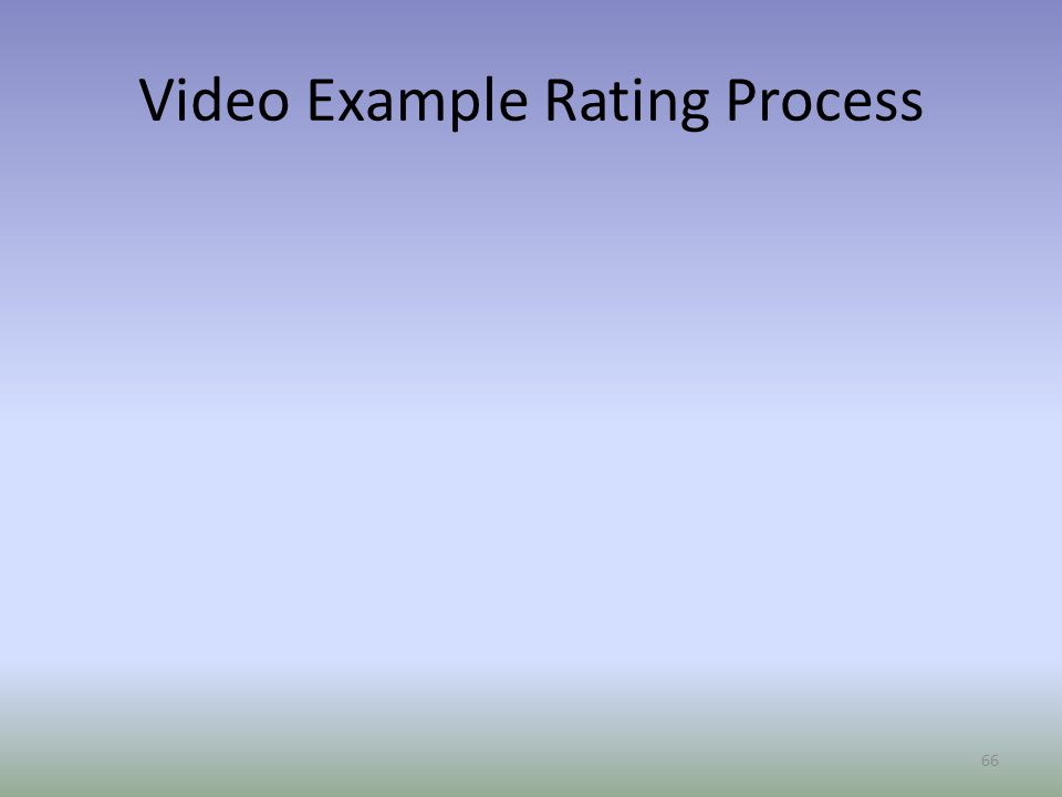 Video Example Rating Process 66