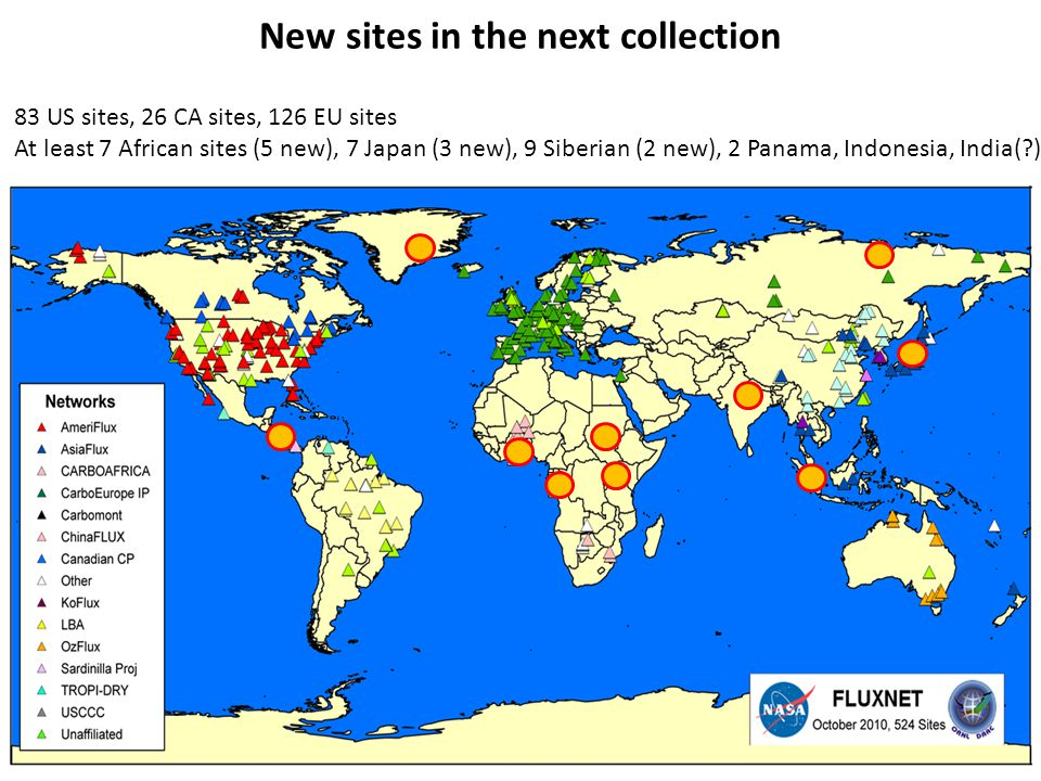 New sites in the next collection 83 US sites, 26 CA sites, 126 EU sites At least 7 African sites (5 new), 7 Japan (3 new), 9 Siberian (2 new), 2 Panam