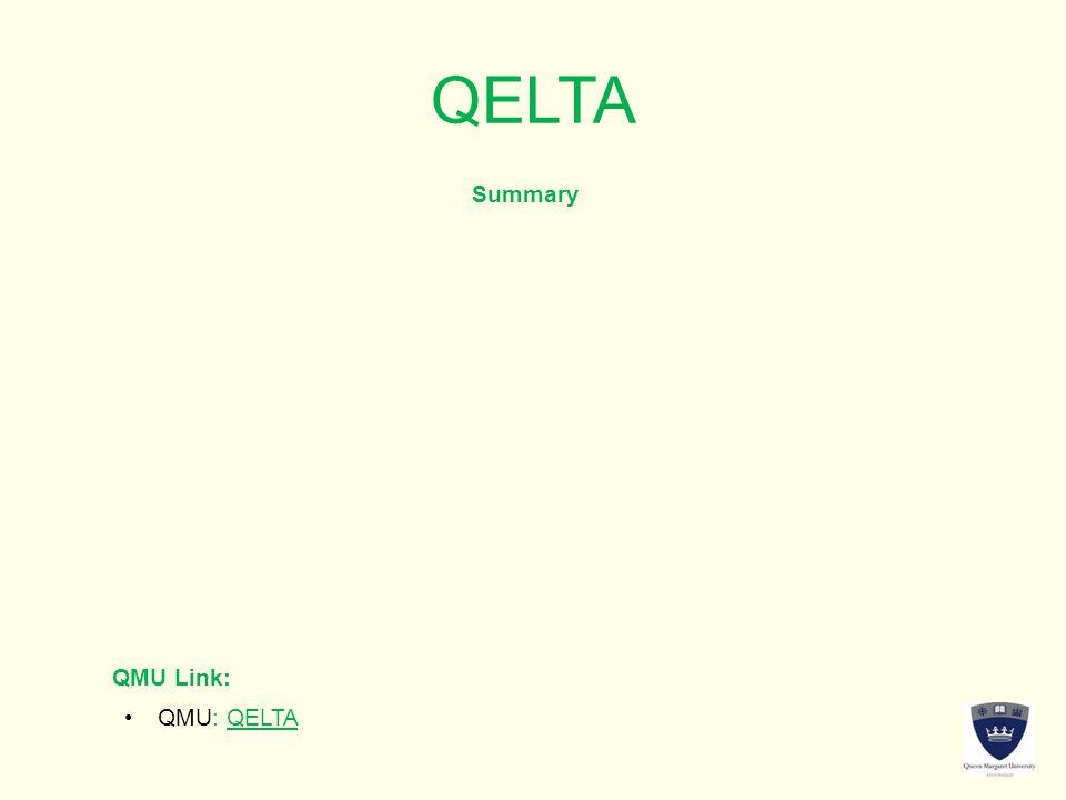 QELTA Summary QMU Link: QMU: QELTAQMU: QELTA