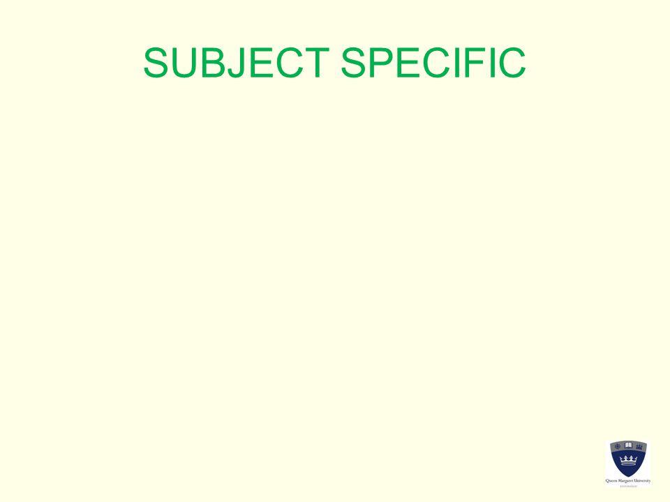SUBJECT SPECIFIC