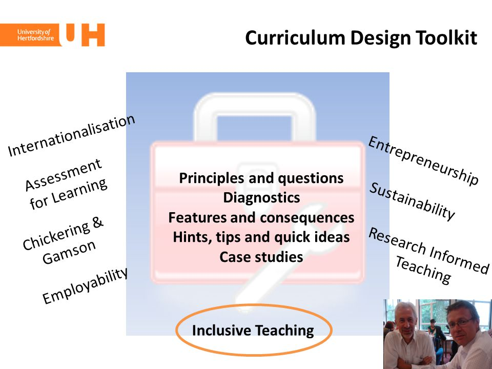 Curriculum Design Toolkit Principles and questions Diagnostics Features and consequences Hints, tips and quick ideas Case studies Assessment for Learn