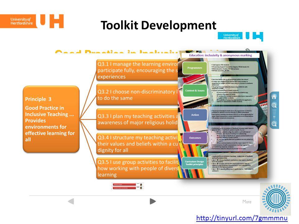 Toolkit Development http://tinyurl.com/7gmmmnu