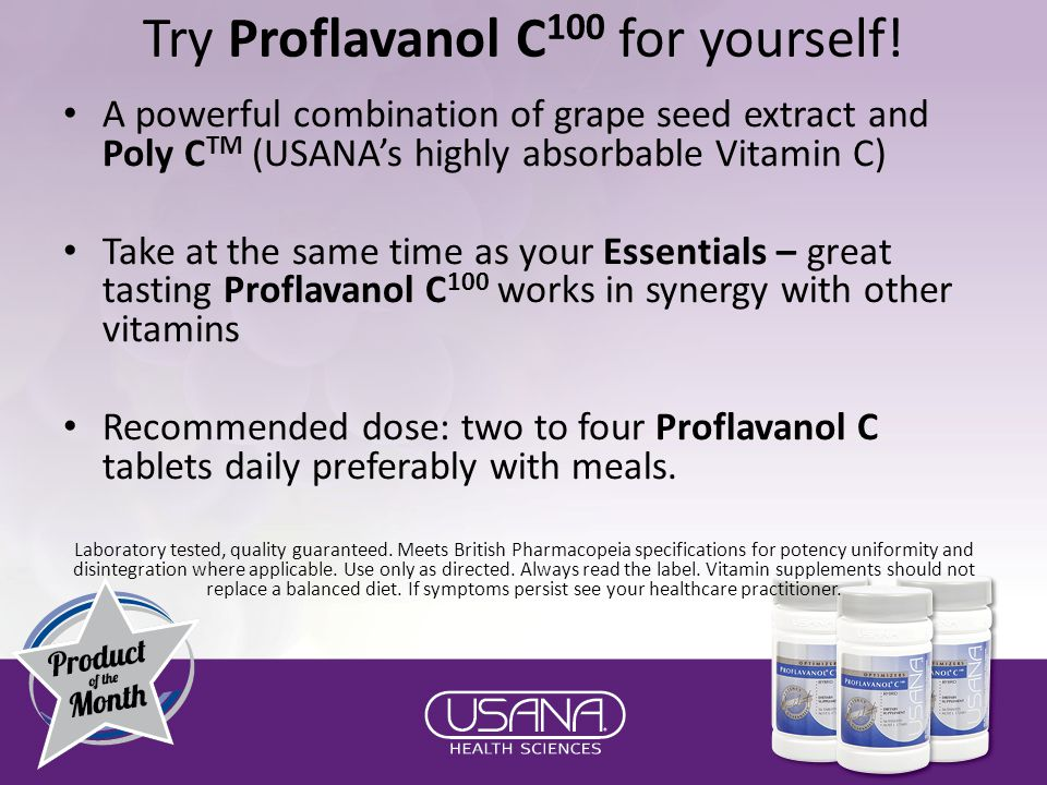 Try Proflavanol C 100 for yourself.