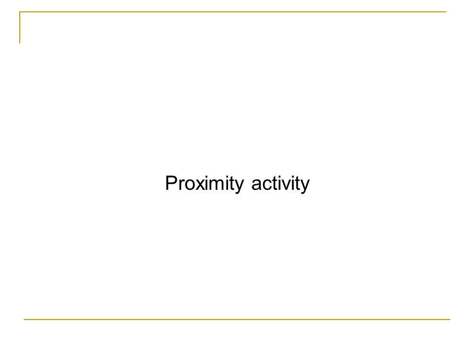 Proximity activity