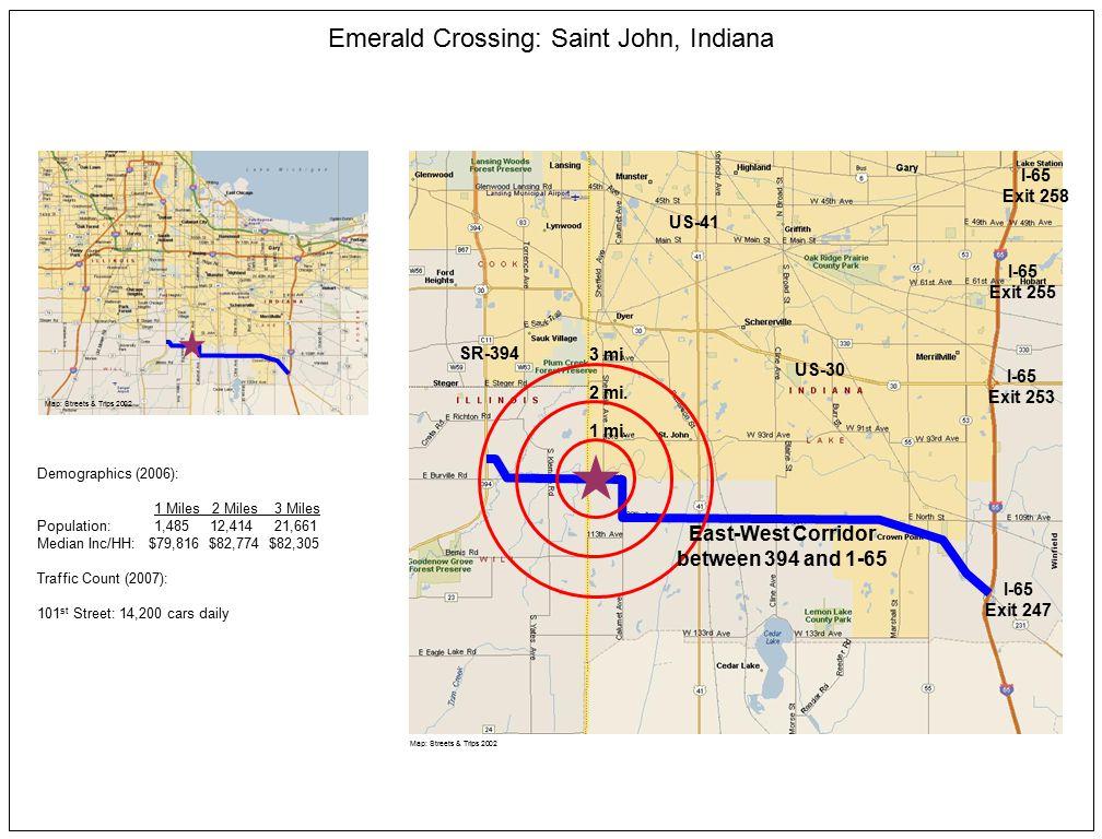 Map: Streets & Trips 2002 2 mi. 1 mi.