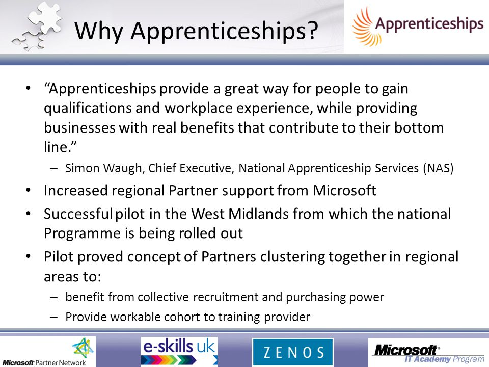 Why Apprenticeships.