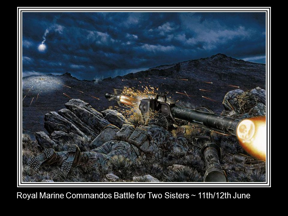 2 Para's Battle for Mount Longdon ~ 11th/12th June