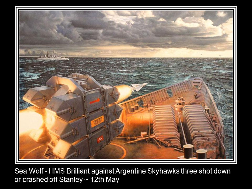 Exocet - Two Argentine Super Etendards attacking ~ 4th May (HMS Sheffield hit and sank ~ 10th May)