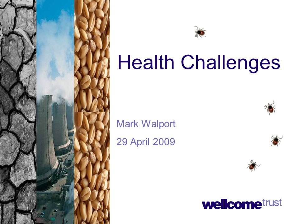 Health Challenges Mark Walport 29 April 2009