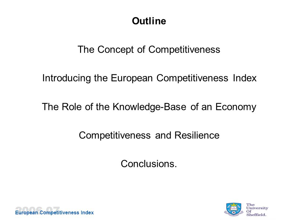 Is Competitiveness Similar to Resilience?
