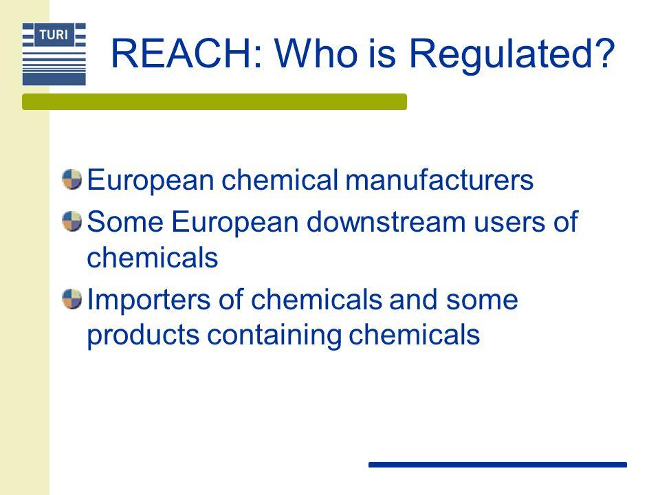 REACH: Who is Regulated.