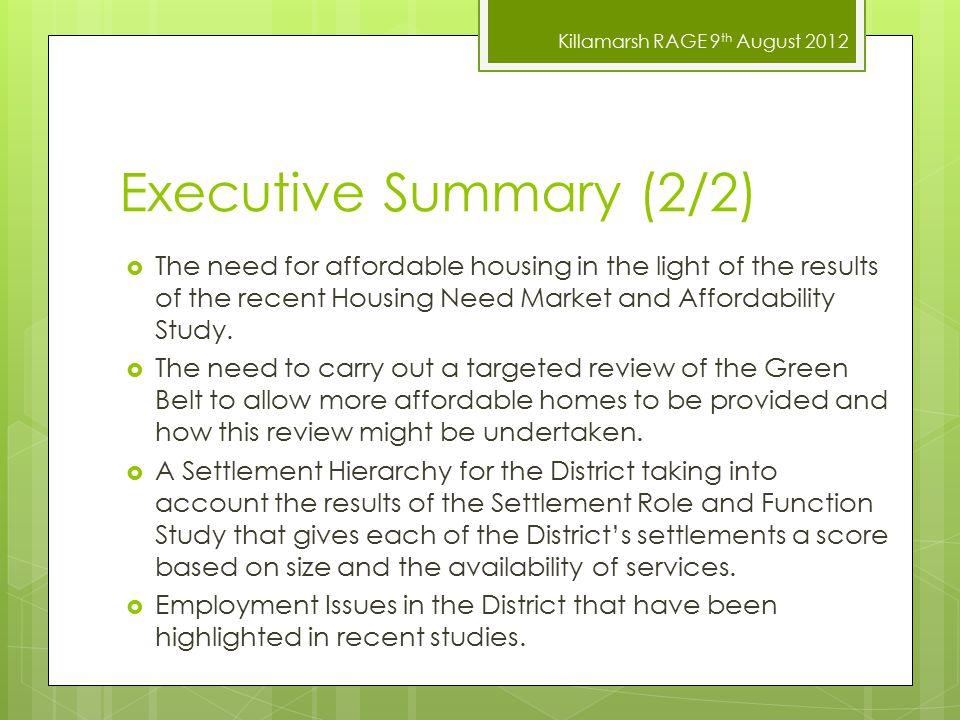 Killamarsh RAGE 9 th August 2012 Consultation Comments 10.