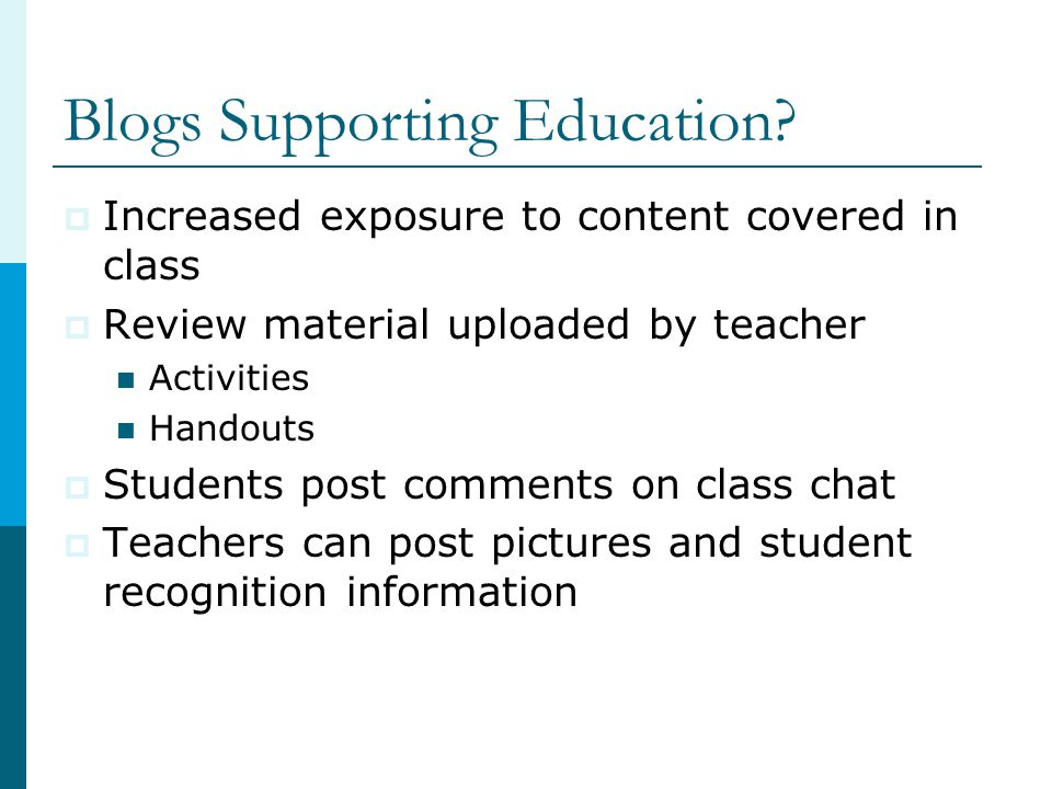 Blogs Supporting Education.
