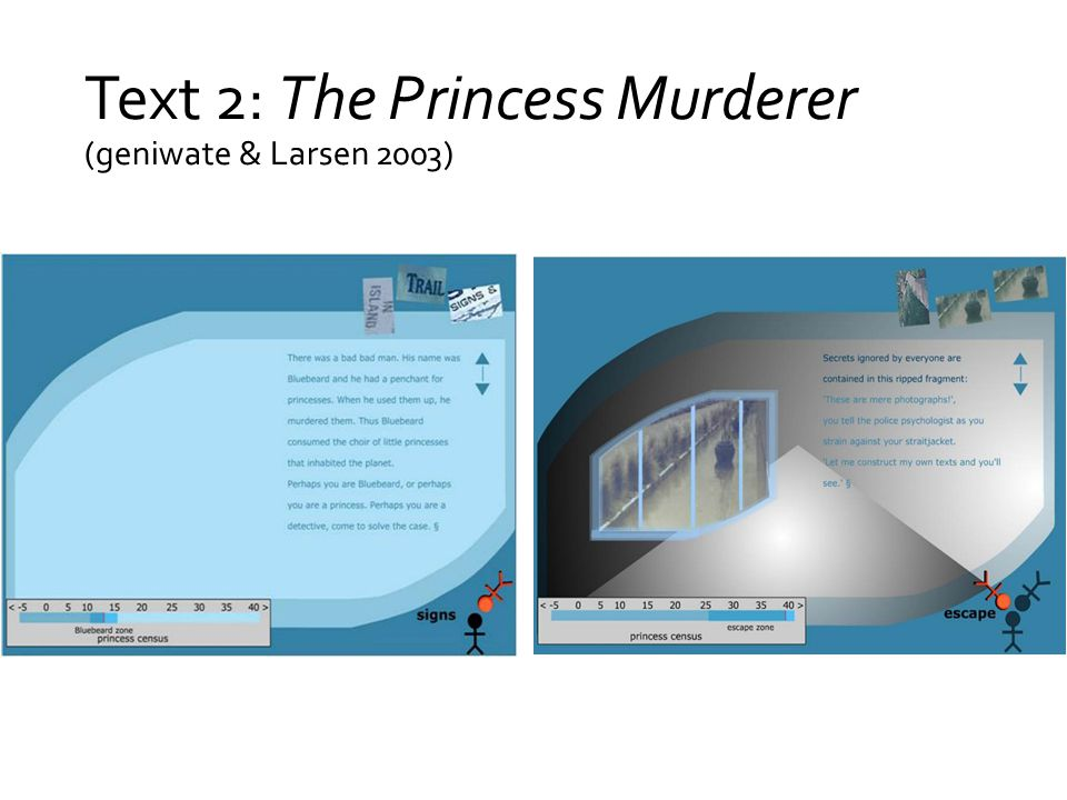 Text 2: The Princess Murderer (geniwate & Larsen 2003)