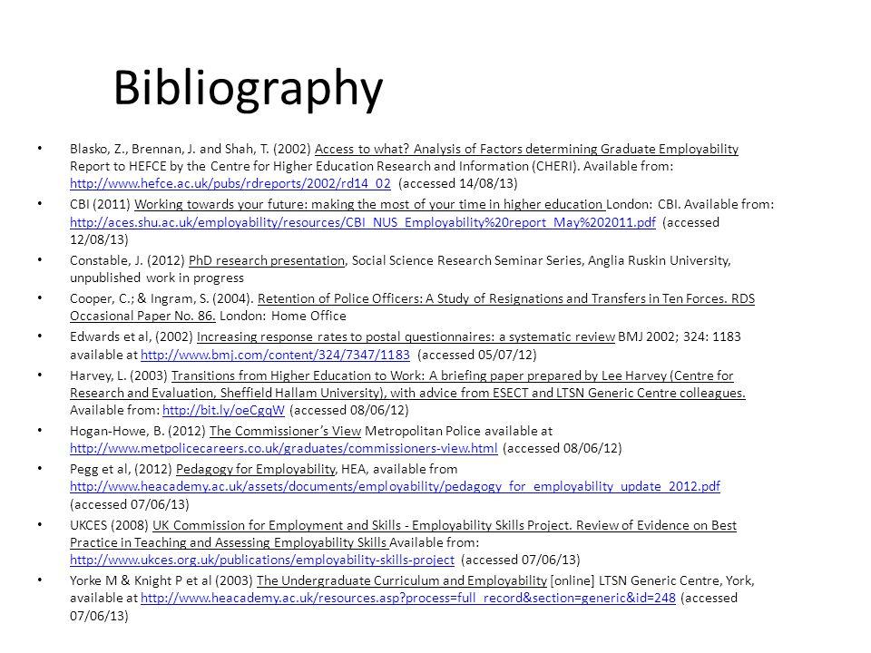 Bibliography Blasko, Z., Brennan, J. and Shah, T.